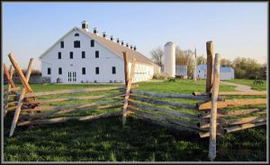 barn with fence