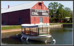 canal boat and cushwa coal and brick house in the background