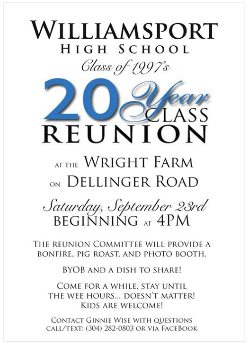 Williamsport High School Class of 1997 Reunion
