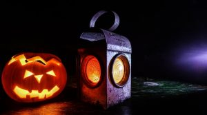 Halloween pumpkin and lantern