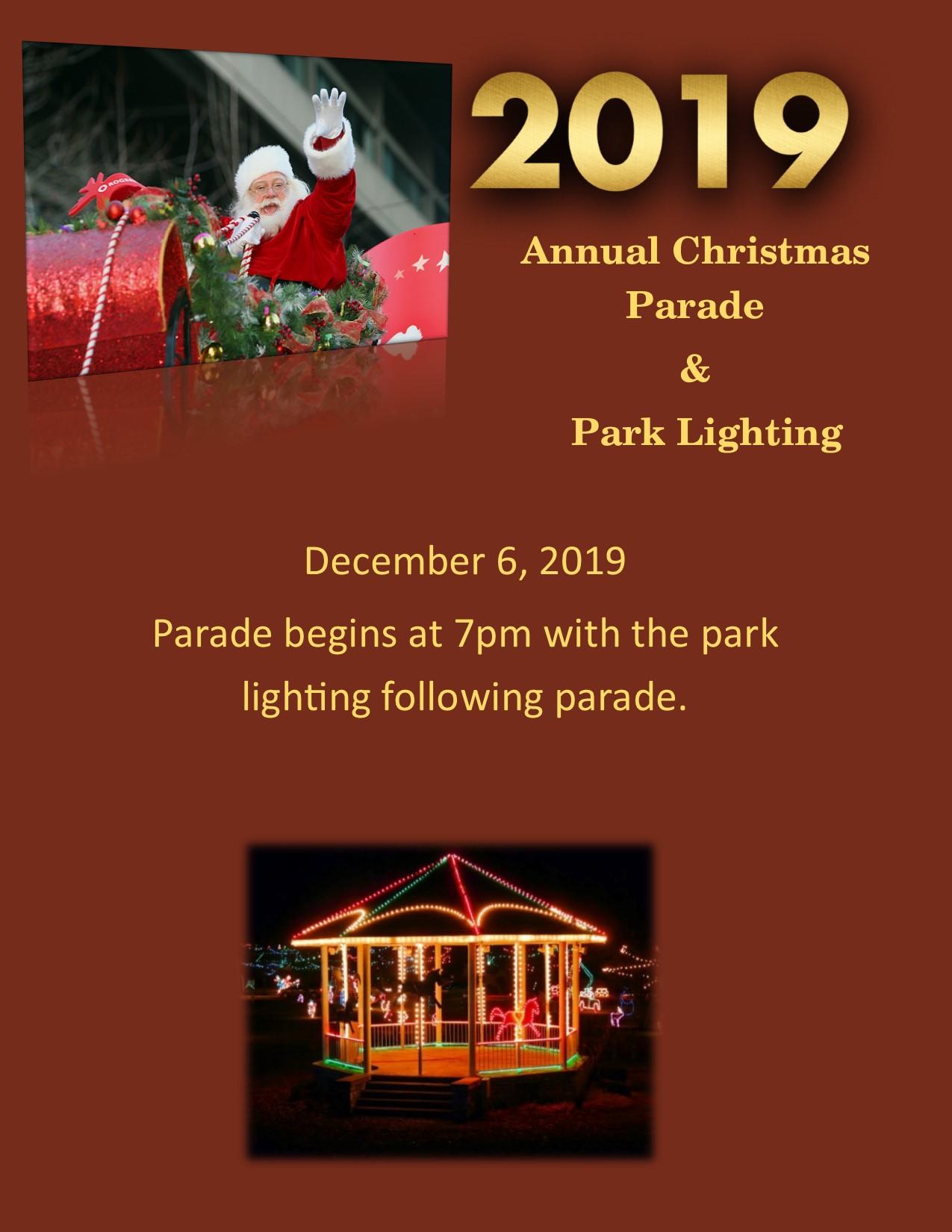 Annual Christmas Parade & Park Lighting